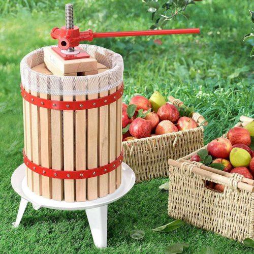 Hagyományos szőlőprés, gyümölcsprés 18 liter - fotó