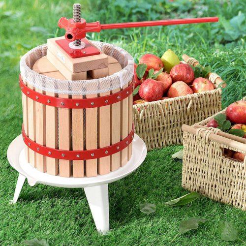 12 literes hagyományos gyümölcsprés tölgyfa kosárral