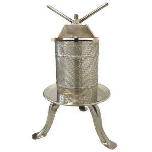 Saválló acél prés (10 liter)