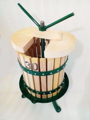 30 literes szőlőprés nyíló kosárral - teljes