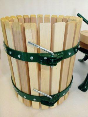 30 literes szőlőprés nyíló kosárral