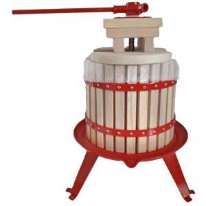 12 literes hagyományos szőlőprés tölgyfa kosárral