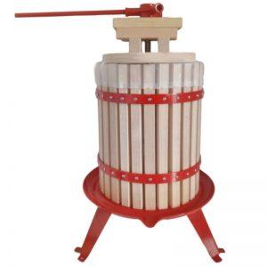 18 literes hagyományos szőlőprés tölgyfa kosárral